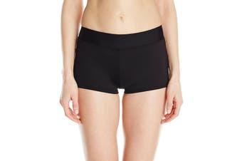Carve Designs Women's Swimwear Black Size XL Isla Boy Low Rise Bottom