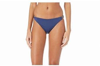 BCBG Generation Womens Swimwear Blue Size Medium M Hardware Ring Bottom