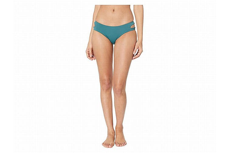 The Bikini Lab Women's Swimwear Blue Size Small S Solid Cut Out Hipster