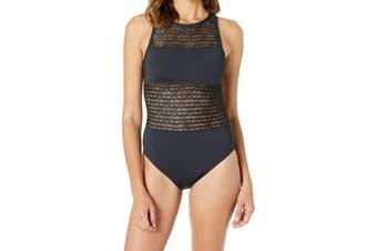 Bleu Rod Beattie Women's Swimwear Black Size 10 Get In Line High Neck