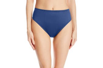 24th & Ocean Womens Swimwear Blue Size Large L Mid Waist Hipster Bikini