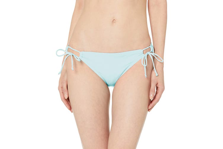 Hobie Women's Swimwear Light Blue Size Medium M Bikini Bottom Side-Tied #790
