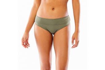Carve Designs Women's Bikini Bottom Olive Green Size XL Gathered Side
