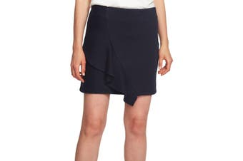 1. State Women's Blue Size Small S Striped Asymmetric Ruffle Mini Skirt