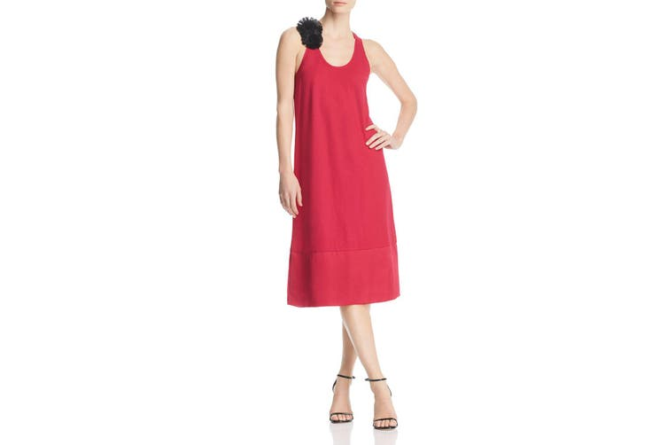 Kenneth Cole Women's Dress Ceris Pink Size XS Shift Raw Edge Racerback