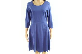 Lola Grace Purple Size Small S Junior Scoop Neck Seamed A-Line Dress