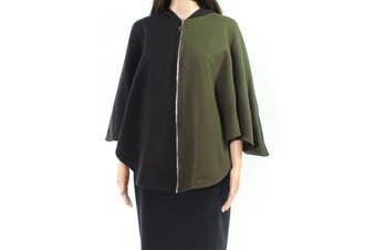 Angel Women's Sweater Black Green Size Medium M Hooded Colorblocked