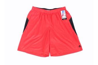 Champion Mens Shorts Red Size Large L Drawstring Performance Athletic #232