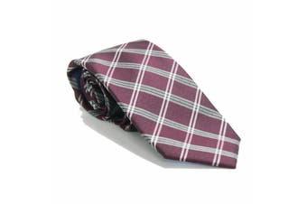 Tommy Hilfiger Men's One Size Purple Classic Plaid Slim Neck Tie Silk