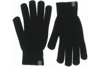Alfani Men's Black One Size Winter Gloves Space Dyed Cozy Knit Warmth