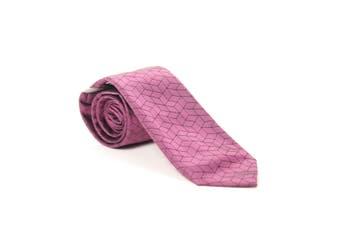 Alfani Men's Neck Tie Purple One Size Geometric Print Skinny Silk