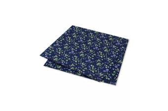 Tommy Hilfiger Men's Square Pocket Blue One Size Botanical Floral Print