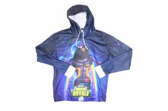 Designer Brand Mens Blue Size XL Fortnite Battle Royale Hooded Sweater