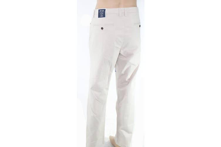 Club Room Mens Pants Beige 34X32 Chino Stretch Patchwork Scribbles