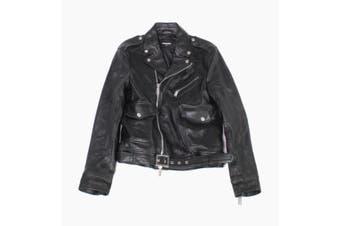 DSquared2 Mens Jacket Black Size Large L IT 50 Motorcycle Leather