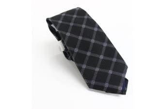 Michael Kors Men's Neck Tie Black One Size Premium Pixelated Grid Silk