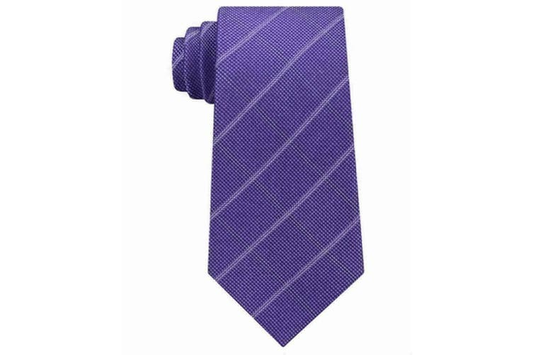 Michael Kors Purple Men's One Size Stonehurst Grid Silk Neck Tie