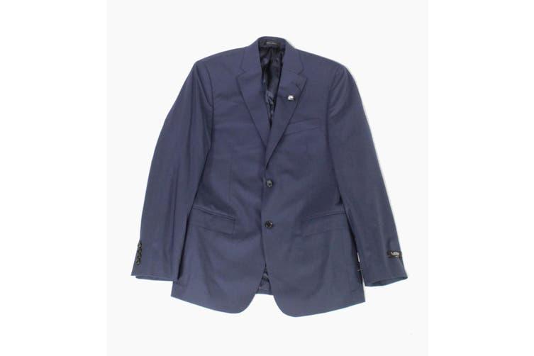 Lauren by Ralph Lauren Mens Blazer Blue Size 52 Slim Two Button Wool