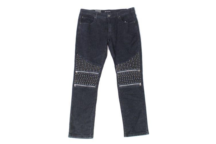 INC Mens Jeans Blue Size 38X32 Stockholm Skinny-Fit Studded Stretch