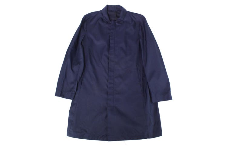 Alfani Mens Jacket Navy Blue Size Large L Full-Zip Long Length