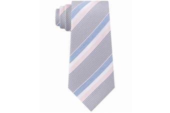 Kenneth Cole Reaction Men's Blue Denim Accent Striped Neck Tie Silk