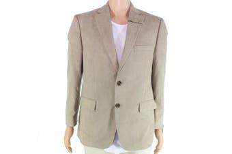 Tasso Elba Mens Sports Coat Beige Tan Size 46 Microsuede Classic-Fit