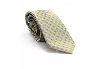 Club Room Men's Yellow Geometric Diamond Dot Neck Tie Silk Accessory