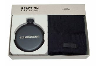 Kenneth Cole Reaction Black Men's One-Size Beanie Flask Gift Set