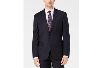 Bar III Men Suit Jacket Blue Size 40  Slim-Fit Stretch Two Button Wool