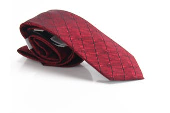 Alfani Men's Burgundy Red Epping Solid Skinny Slim Neck Tie Silk