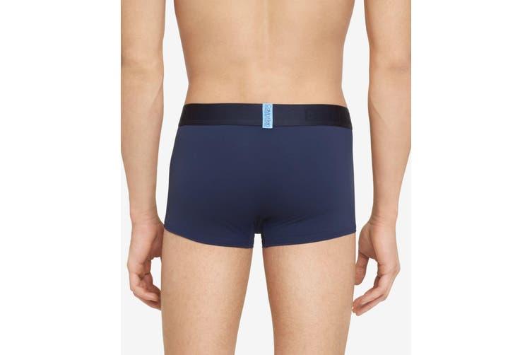Calvin Klein Mens Men's Navy Blue Size XL Low Rise Trunk Boxer Brief