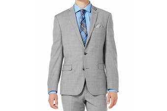 Bar III Mens Suit Separate Gray Size 42 Two Button Stretch Slim-Fit