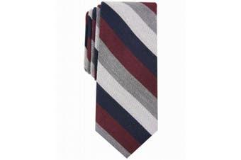 Bar III Men's Navy Blue Red Gray Dupont Striped Skinny Slim Neck Tie