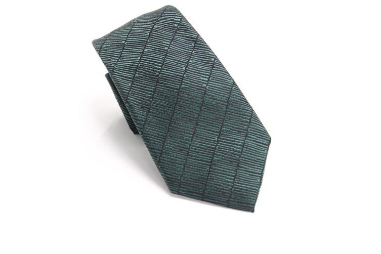 Alfani Men's Dark Green Epping Slim Textured Neck Tie Silk Accessory