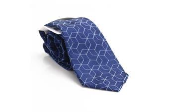 Calvin Klein Men's Blue Constellation Classic Slim Neck Tie Silk