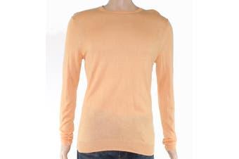 Tasso Elba Mens Sweater Pale Orange Size XL Crewneck Elan Pullover