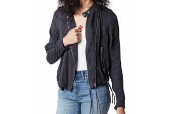 BLANKNYC Women's Jacket Black Size Small S Lunch Placket Asymmetric