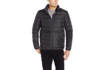 Cole Haan Mens Black Size Medium M Packable Puffer Full Zip Jacket