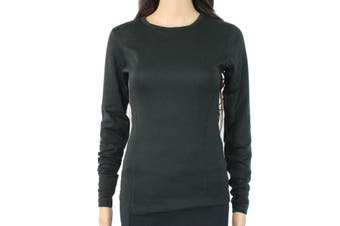 Duofold by Champion Women's Activwear Top Black Small S Long Sleeve