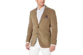 US. Polo ASSN. Mens Blazer Brown Size 54 Corduroy Two Button Notched