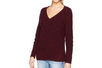 BB Dakota Women's Sweater Burgundy Red Size XS Knitted Oversized