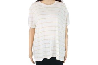 Lauren by Ralph Lauren Women's Top White Size Small S Knit Striped