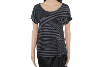 A-Line Hawaii Made Women's Top Black Size Small PS Petite Knit Striped