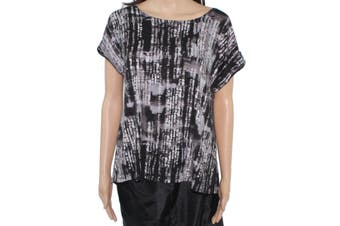 A-Line Hawaii Made Women's Top Black Size Small PS Petite Knit High-Low