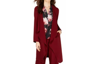 Nine West Women's Sweater Red Size Small S Cascade Flyaway Cardigan
