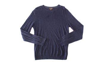 Tasso Elba Men Sweater Blue Size XL Pullover Elan Crewneck Long Sleeve