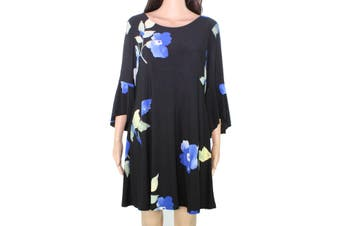 Lauren by Ralph Lauren Women's Dress Black Size 6P Petite Floral