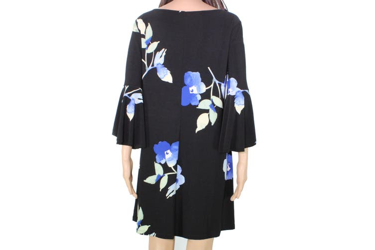 Lauren by Ralph Lauren Women's Dress Black Size 6P Petite Floral
