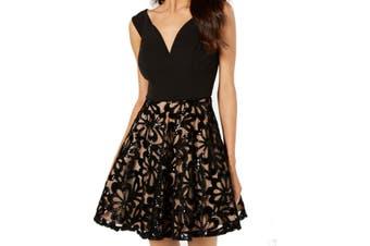 City Studio Juinors Dress Black Size 9 A-Line Sequin Fit & Flare