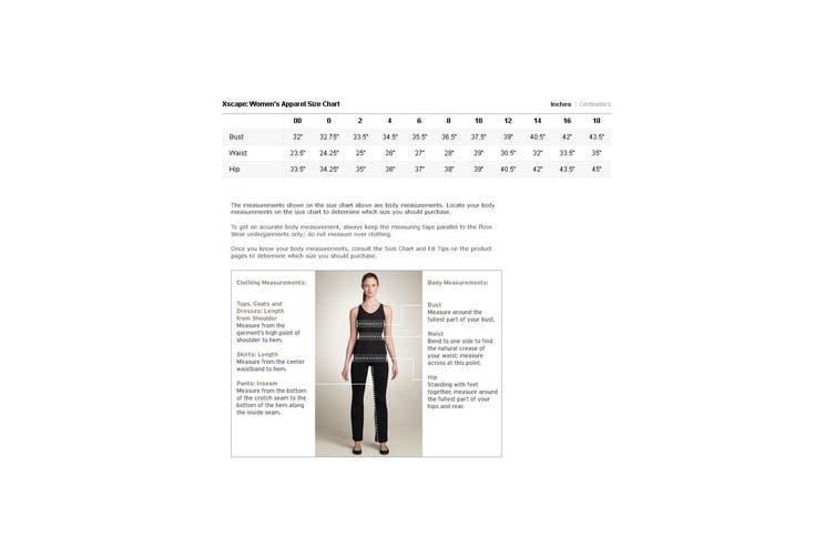 Xscape Women's Dress Black Size 4 Maxi Embroidered Floral Halter